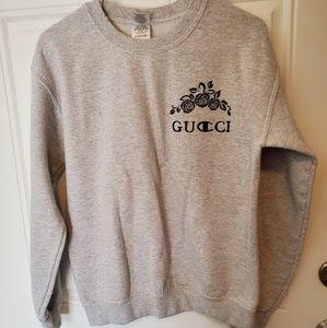 Gucci/Champion screen printed sweatshirt